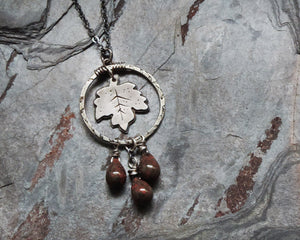 botanical nature inspired leaf jewelry