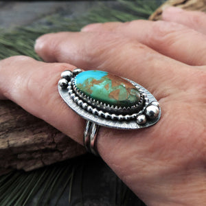 Sky Song Turquoise Gemstone Ring - Size 7.5