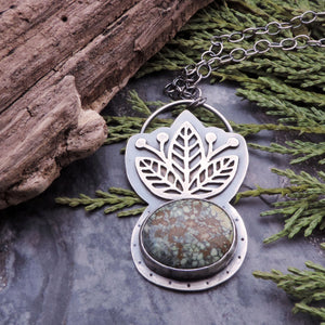 Three Leaves CaliChrome Variscite Necklace