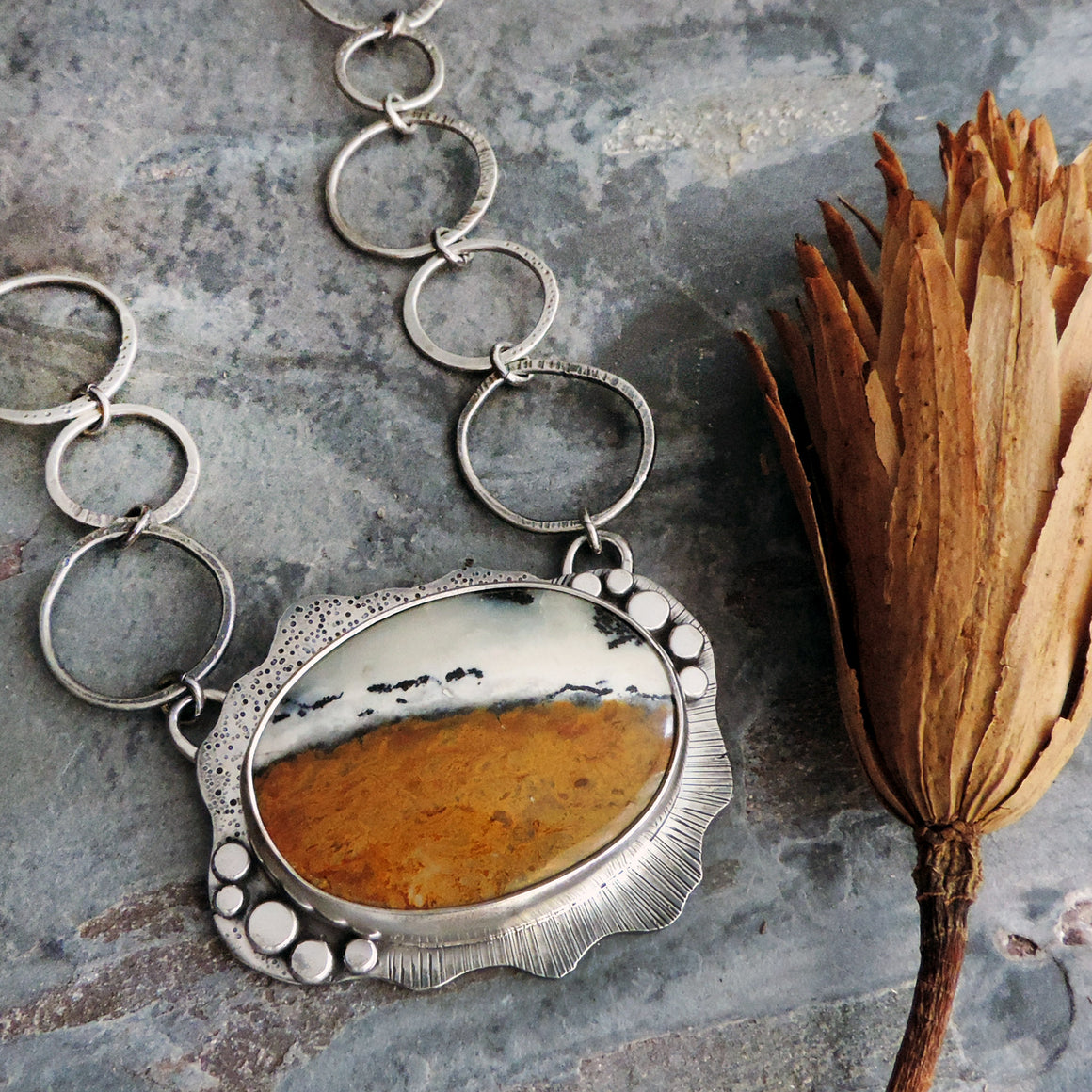 Dendritic Jasper Statement Necklace