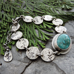 handmade organic botanical jewelry with turquoise