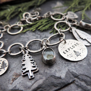 handmade pine tree jewelry for outdoor lovers