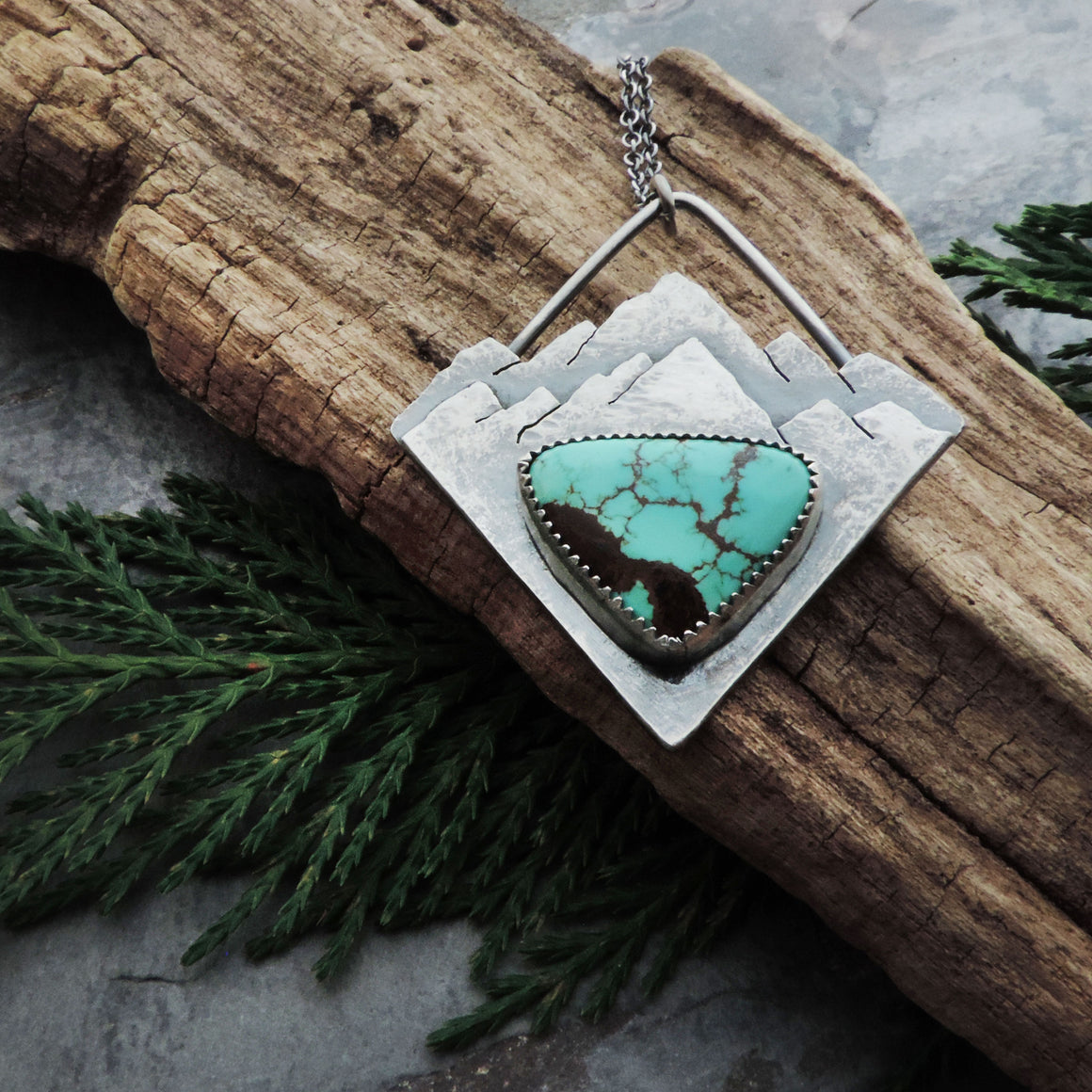 Triangle Mountain Necklace with Timberline Turquoise
