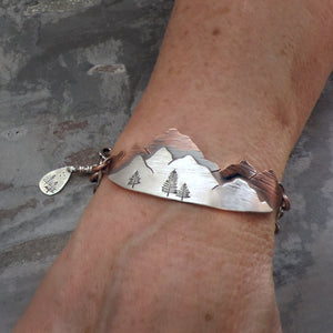 Custom Order - Mountain Bracelet in Copper and Silver