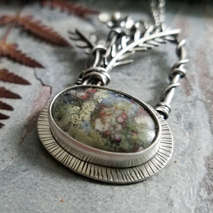 indonesian moss agate sterling silver jewelry