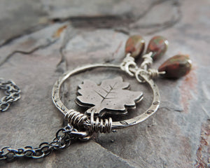nature lover maple leaf pendant
