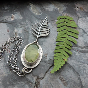 botanical nature inspired fern leaf jewelry