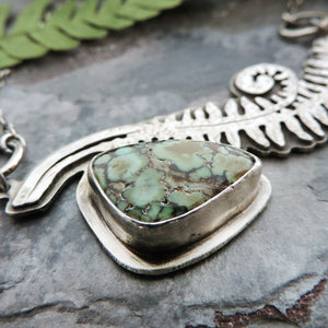 variscite gemstone botanical jewelry