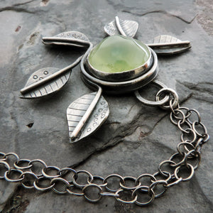 green prehnite nature inspired jewelry