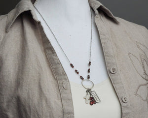 Blessed Garnet Charm Necklace