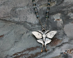 nature inspired luna moth jewelry