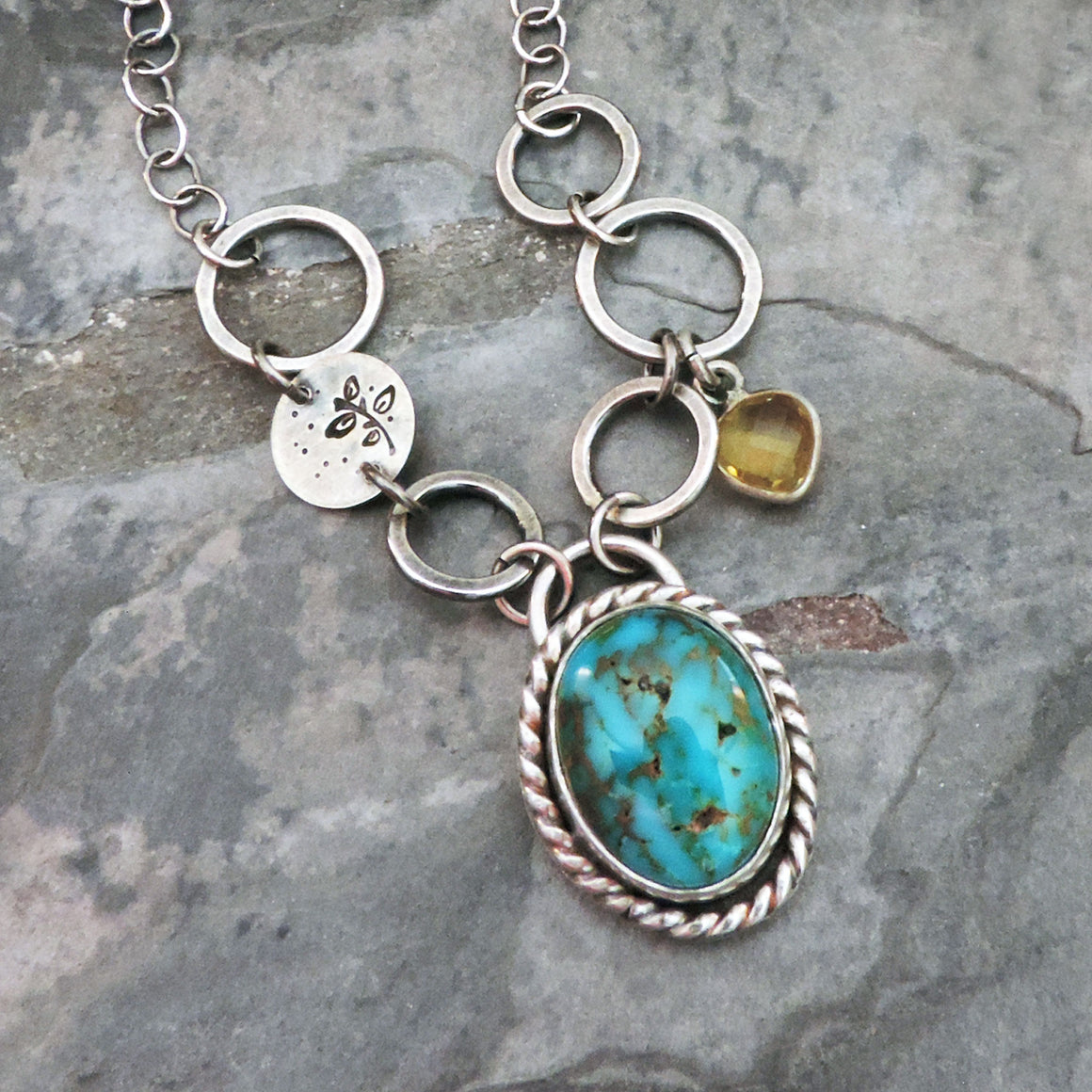 sky song turquoise sterling silver necklace