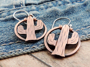 copper southwest earrings