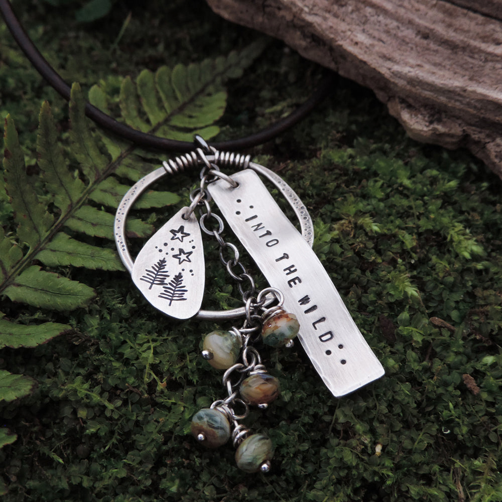 into the wild pine tree adventure charm necklace