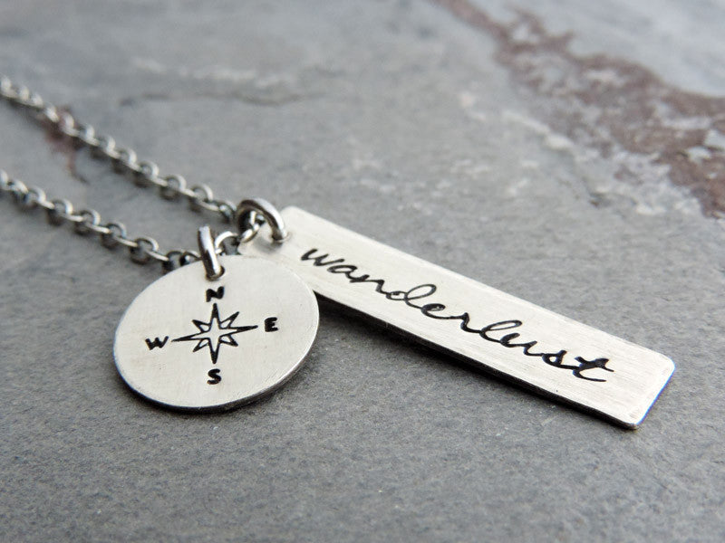 silver wanderlust necklace