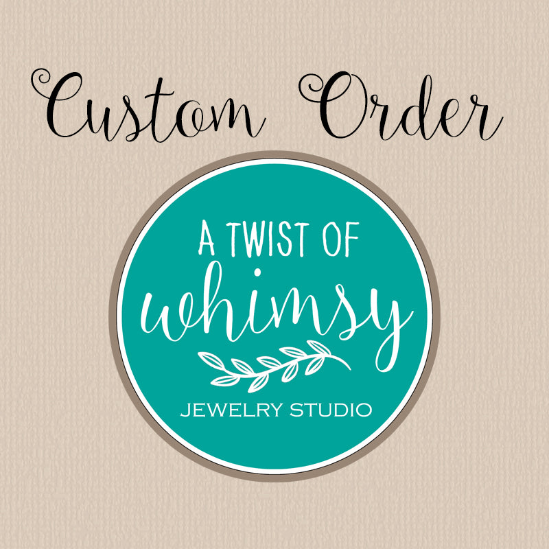 Custom Order - Organic Turquoise Mountain Necklace