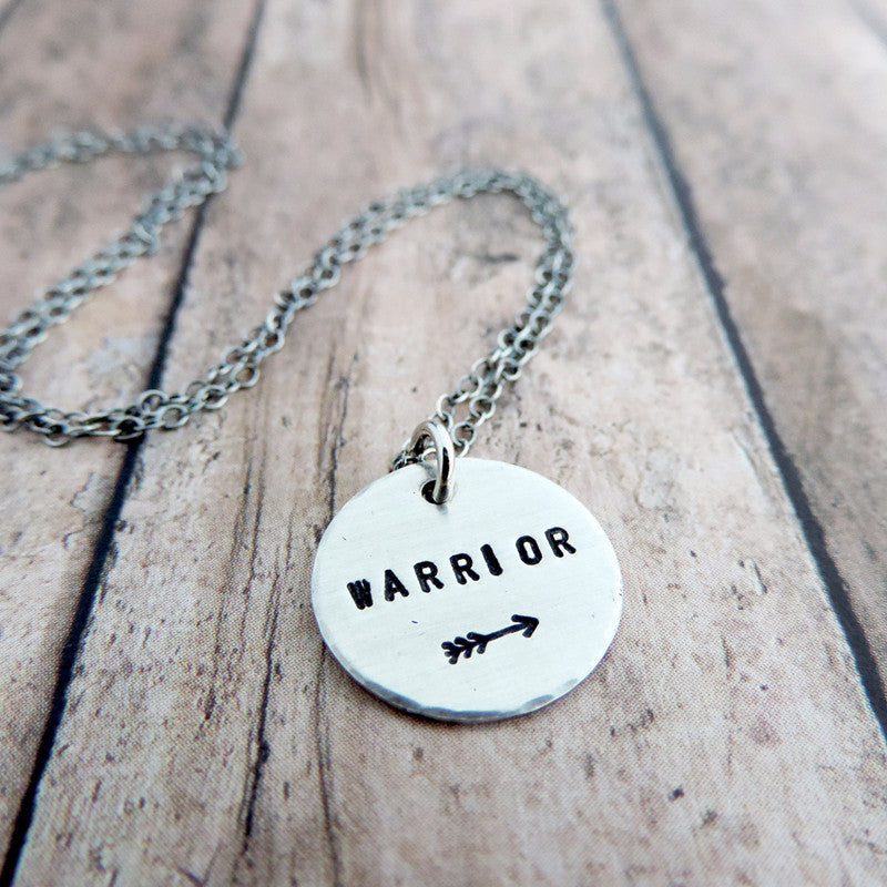 warrior mantra necklace