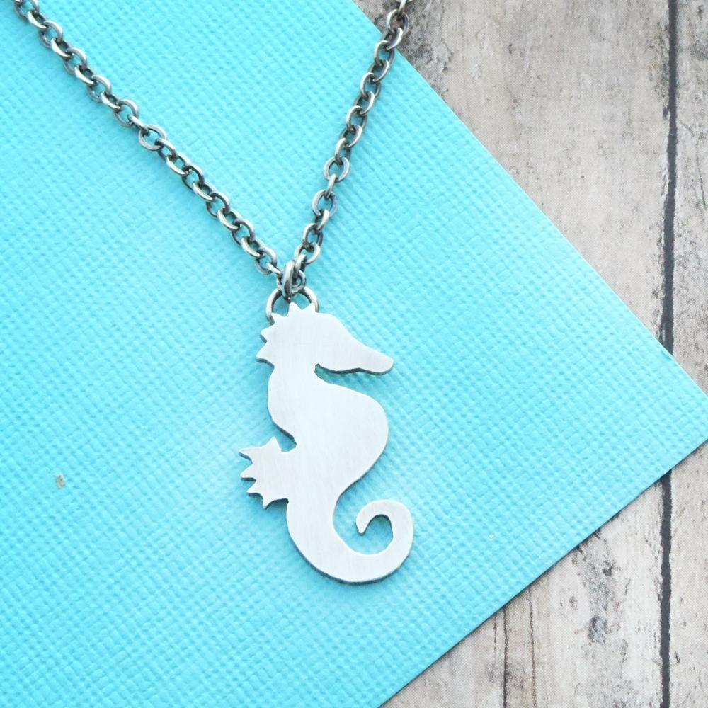 sterling silver seahorse necklace