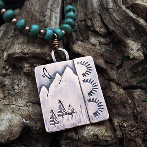 Southwest Style Copper Mountain Necklace