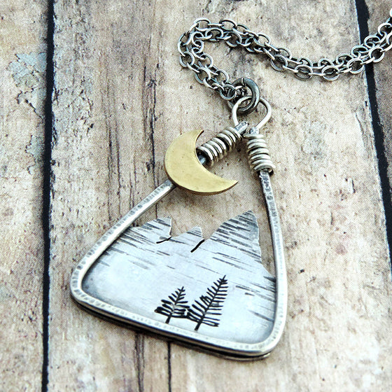 mountain necklace triangle shaped