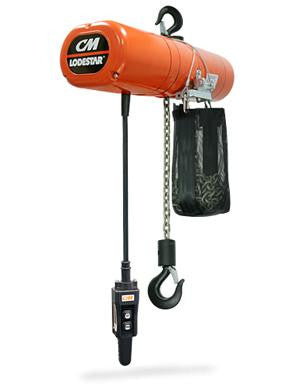 1/4 Ton Lodestar Hoist (10' Lift, 16 FPM, Top Hook, 115V)