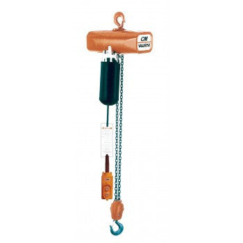 1 Ton Valustar Hoist (15' Lift, 8 FPM, Top Hook, 115V)