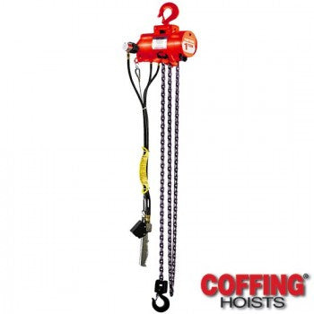 1/4 Ton CAH Hoist (10' Lift, 65 FPM, Top Hook)