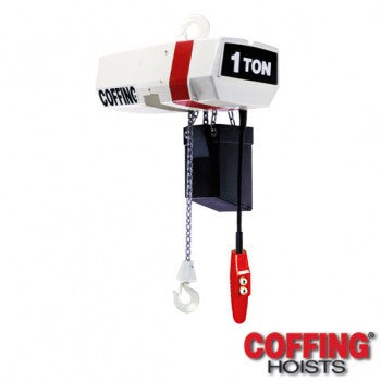 1/4 Ton EC Hoist (10' Lift, 64 FPM, Top Hook)