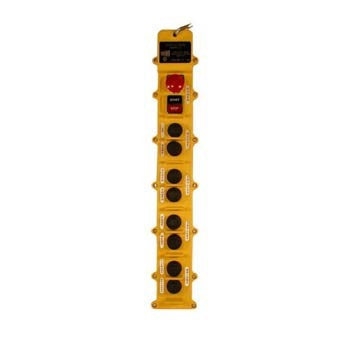 10 Button J Series Pushbutton Station (J10-4-1A) 4 Motion, One Speed