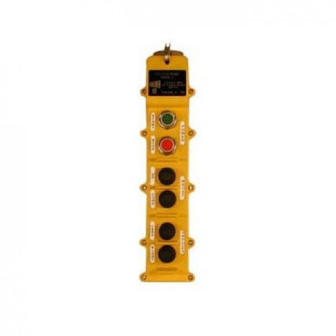 6 Button J Series Pushbutton Station (J6-2-3B) 2 Motion, Three Speed, Interlocking Switch