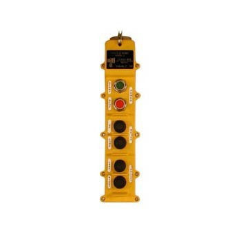 6 Button J Series Pushbutton Station (J6-2-5A) 2 Motion, Five Speed