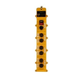 8 Button J Series Pushbutton Station (J8-3-5B) 3 Motion, Five Speed, Interlocking Switch