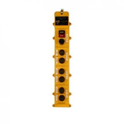8 Button J Series Pushbutton Station (J8-3-1A) 3 Motion, One Speed
