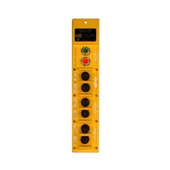 8 Button RPS Series Pushbutton Station (RPS-3-5B) 3 Motion, Five Speed - Mechanical Interlock Motion Switches