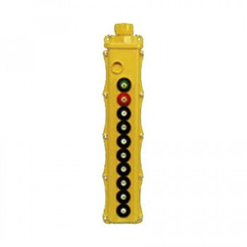 10 Button SBP2 Pushbutton Station - SBP2-10-WHS (Two Speed, Maintained On/Off)
