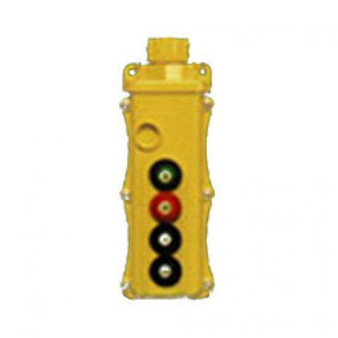 4 Button SBP2 Pushbutton Station -SBP2-4-WB  (One Speed, Momentary On/Off)