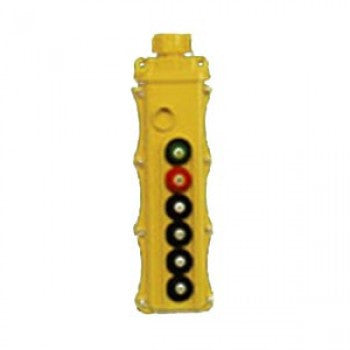 6 Button SBP2 Pushbutton Station - SBP2-6-WH (One Speed, Maintained On/Off)