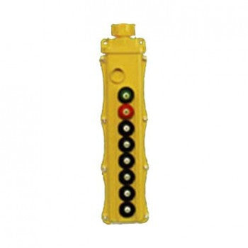 8 Button SBP2 Pushbutton Station - SBP2-8-WH (One Speed, Maintained On/Off)