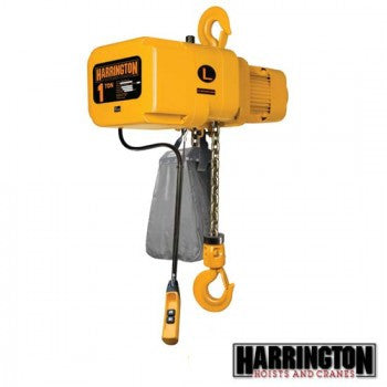 1/2 Ton NER Hoist (10' Lift, 15 FPM, Top Hook)