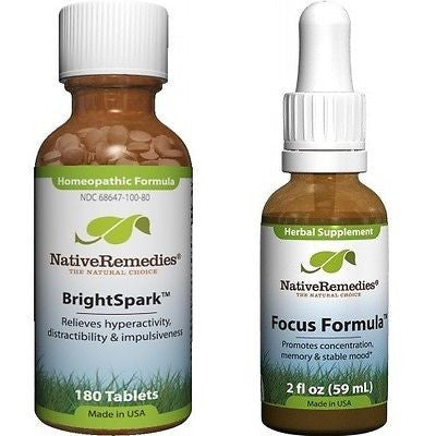 Native Remedies - BrightSpark and  Focus Formula