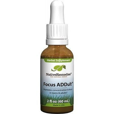 Native Remedies - Focus ADDult (3 Bottles)