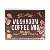 Four Sigmatic Mushroom Coffee Mix With Lions Mane And Chaga Box Of 10 Packets And Laird Superfood Original Non Dairy Creamer 16 Ounces Plus Super Food Information Sheet