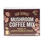 Four Sigmatic Mushroom Coffee Mix With Lions Mane And Chaga Box Of 10 Packets And Laird Superfood Organic Raw Cacao Creamer 16 Ounces Plus Super Food Information Sheet