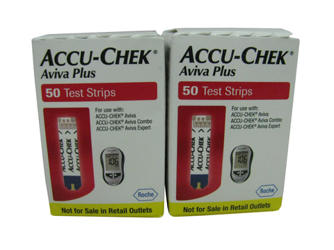 Accu-Chek Aviva Plus NFRS, Two Boxes 50 ct  each, 100 strips