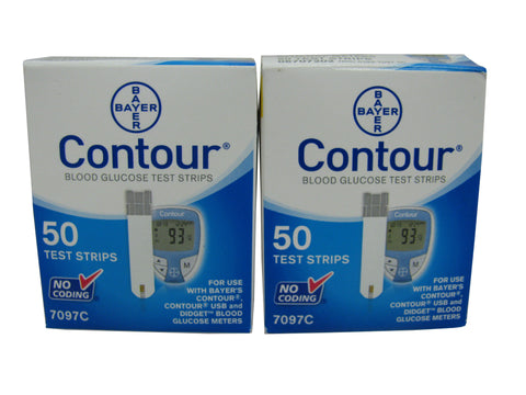 Bayer Contour NFRS, Two Boxes 50ct each, 100 strips