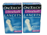 One Touch Ultra Soft Lancets - 2 BOXES