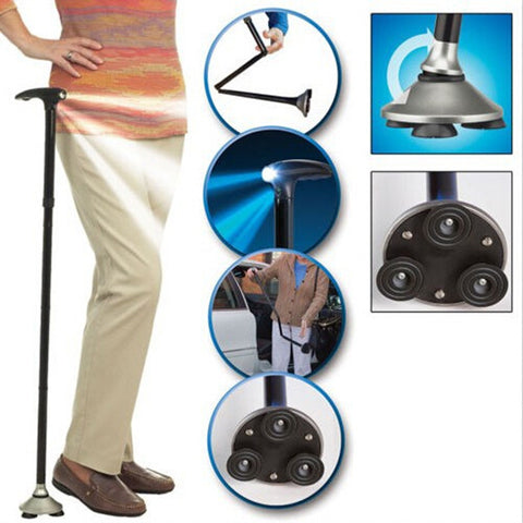 Ultra-Light Folding Cane with Built-In Lights