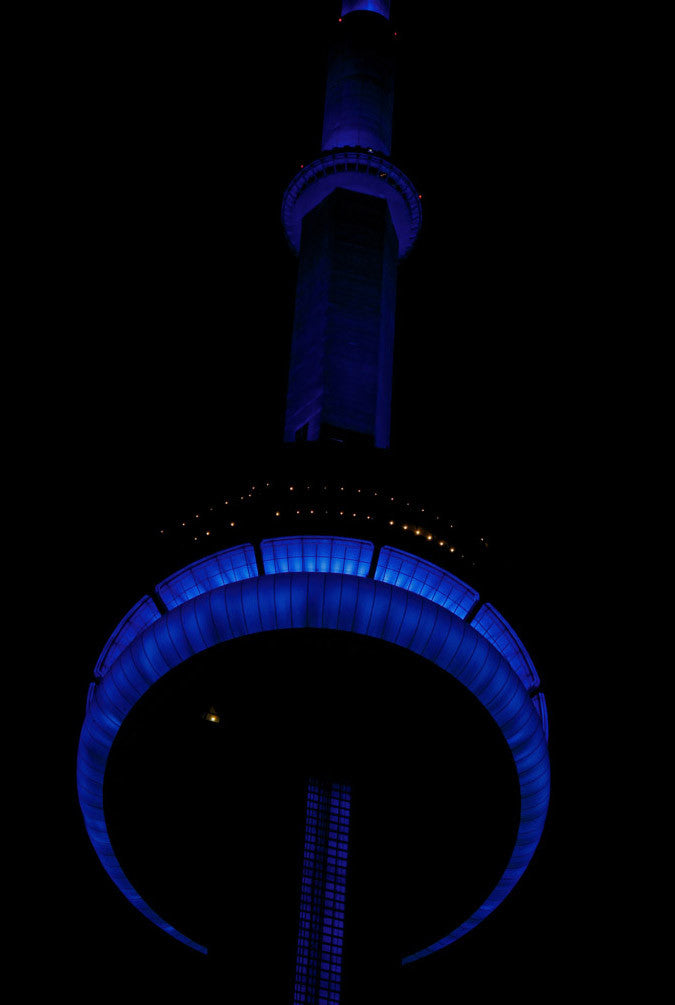 Blue CN Tower