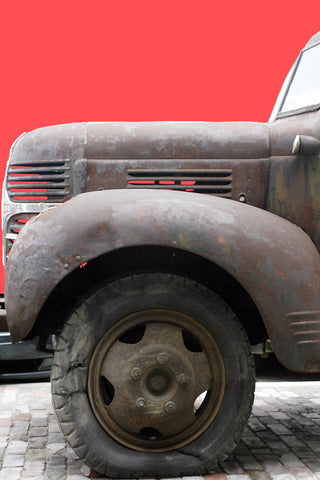 Rusty Truck on Red