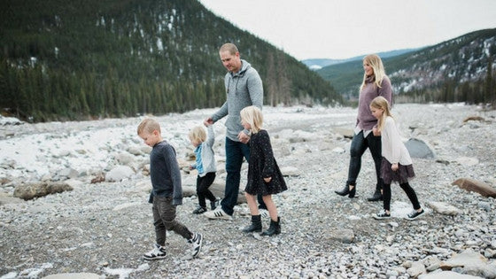 Cheyanne and her family in the great Canadian Outdoors